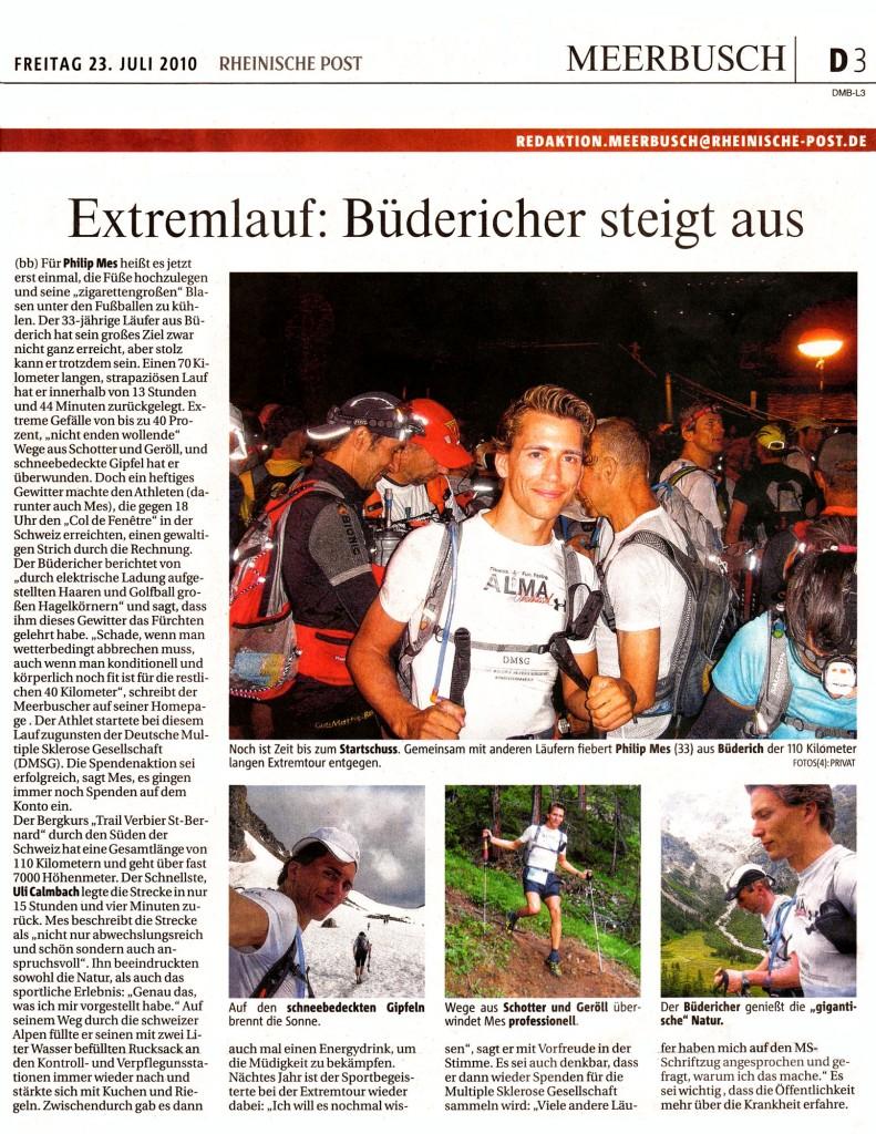 Extremlauf: Büdericher steigt aus