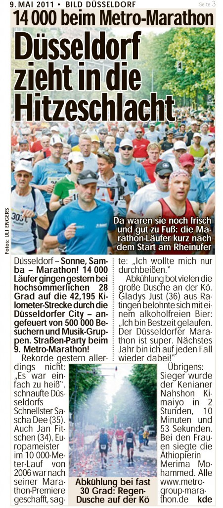 Düsseldorf zieht in die Hitzeschlacht