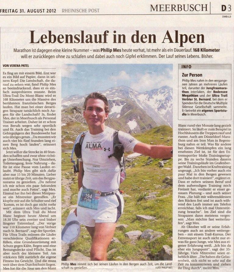 Lebenslauf in den Alpen