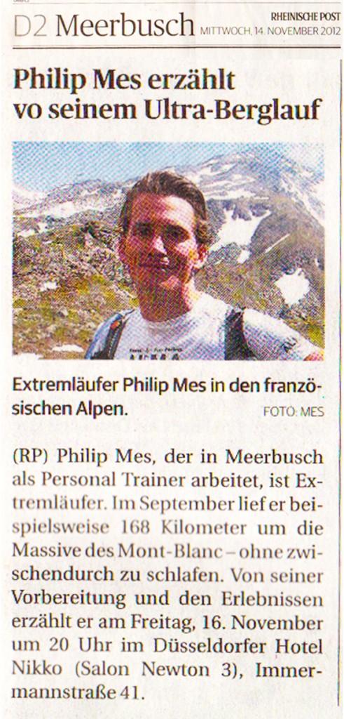 Philip Mes erzählt von seinem Ultra-Berglauf