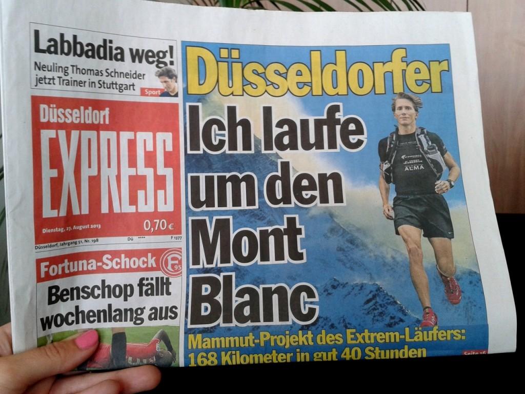 Ich laufe um den Mont Blanc
