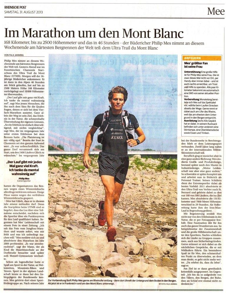 Im Marathon um den Mont Blanc