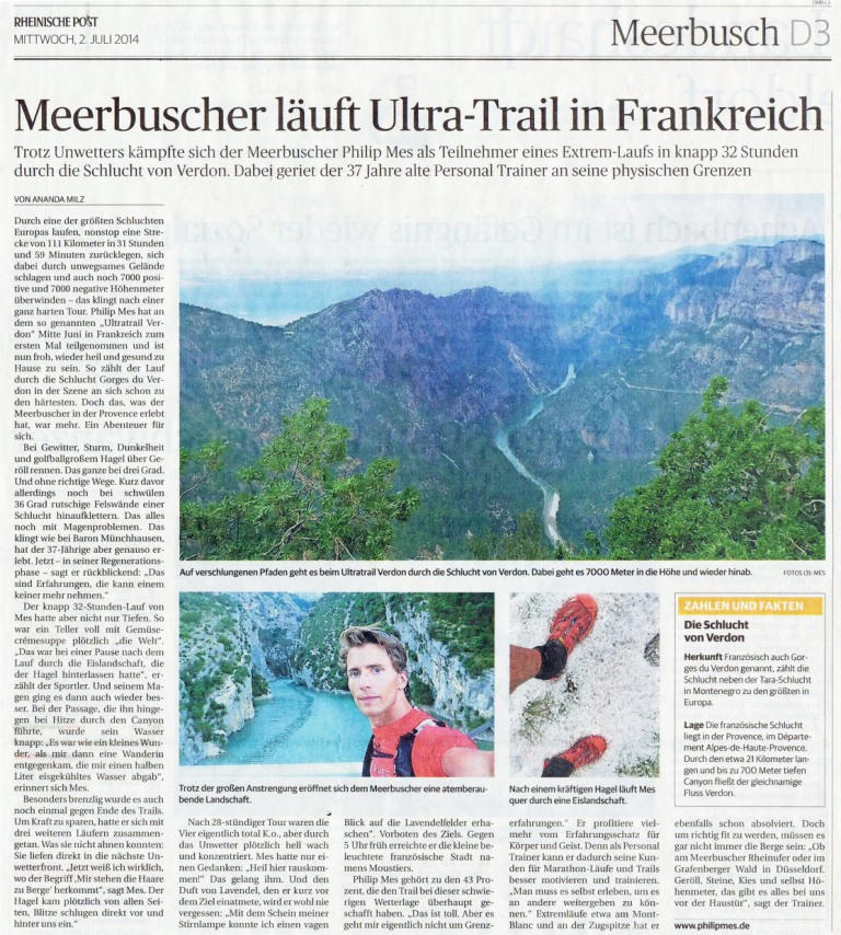 Meerbuscher läuft Ultra-Trail