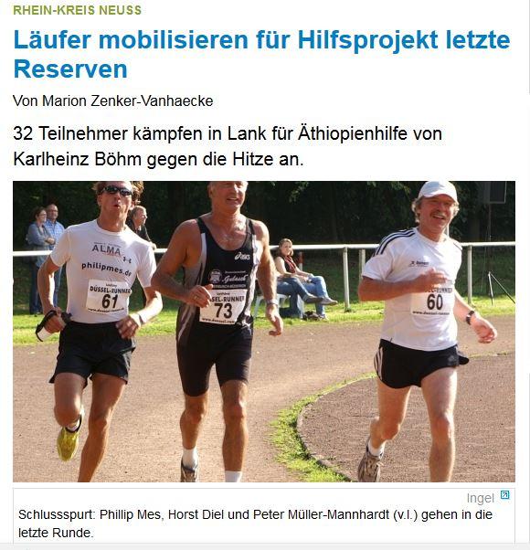 Läufer mobilisieren für Hilfsprojekt letzte Reserven